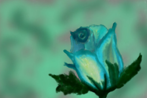 Blue Rose by blackrose666