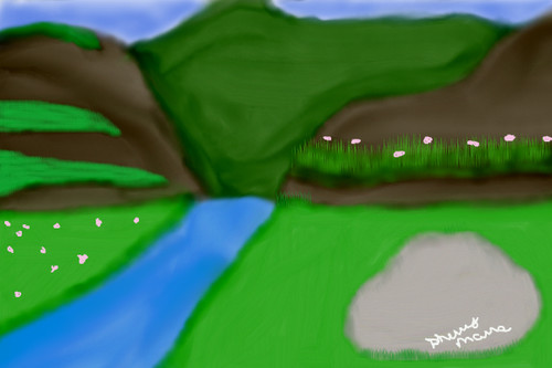 hills with grass by sherrybaby