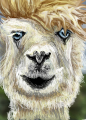 David Bowie as a LLAMA by nedeeb