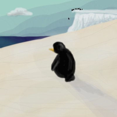 Lonely Penguin by nedeeb