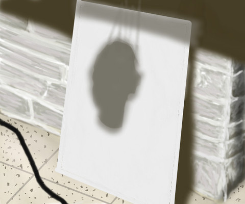 Hanged Head Shadow Canvas by nedeeb