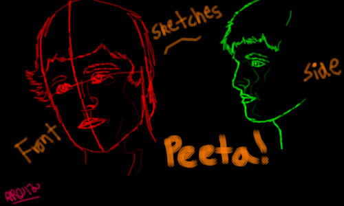 PEETA SKETCHES by roses56
