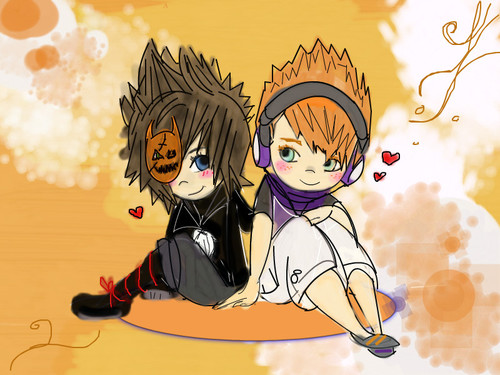 Sora and Neku by HunniXBunni
