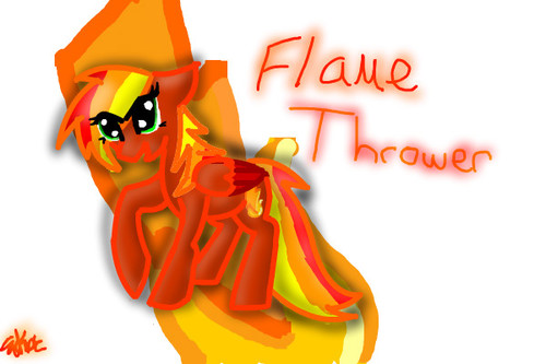 flame thrower by emmakamerer