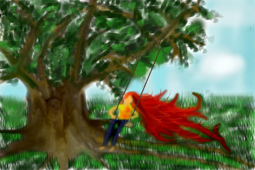 Tree Swing by dlwizardpost