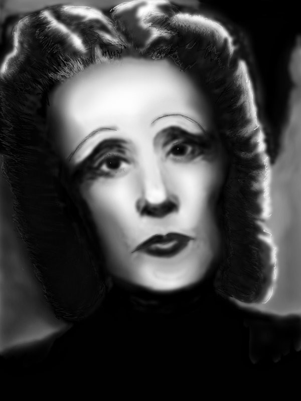 "EDITH PIAF ← a black--white drawing by Wungu in group ""Art ..."