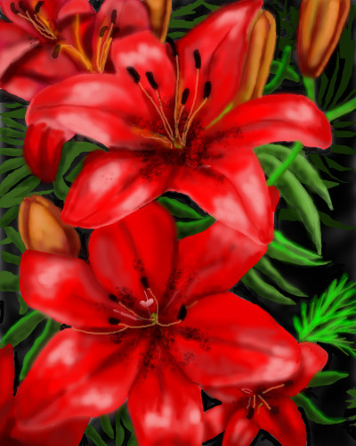 red-lillies