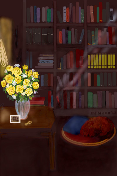 books-and-flowers
