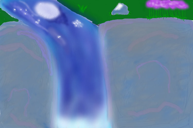 waterfall-at-night