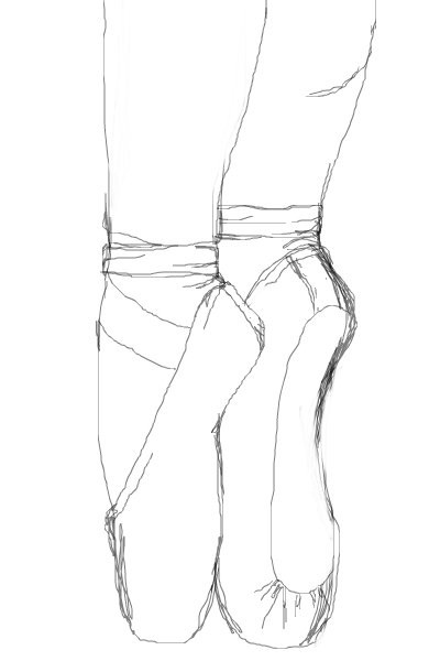 pointe-shoes-sketch