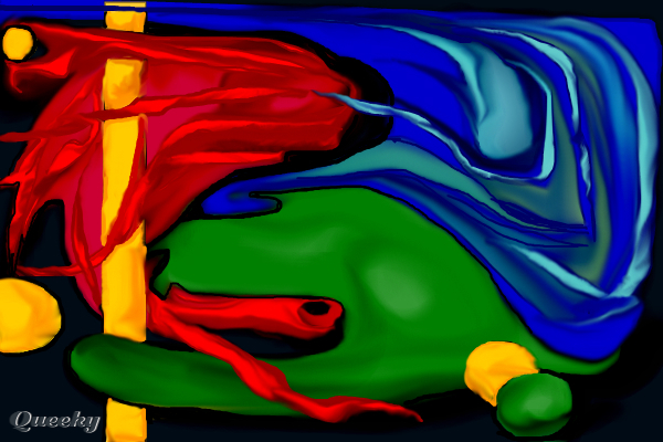 primary colors  u2190 an abstract speedpaint drawing by
