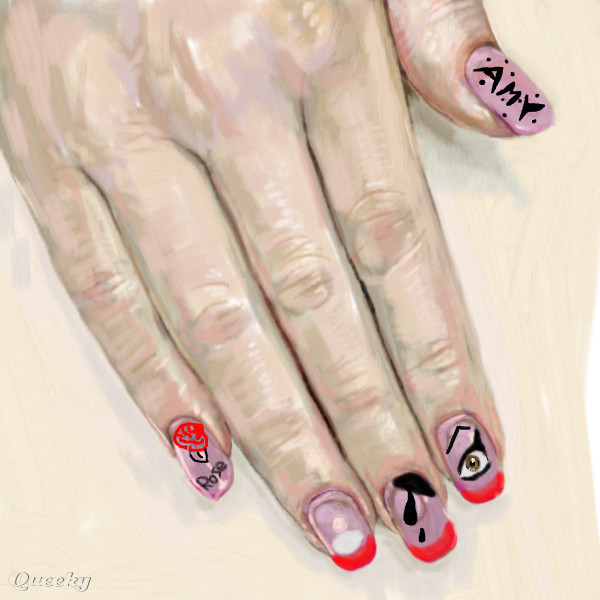 Nail Art Amy Winehouse An Abstract Speedpaint Drawing By Mimirotuka Queeky Draw Amp Paint