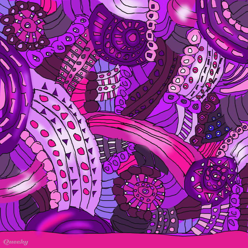 mmm   trippy and purple   u2190 an abstract speedpaint drawing