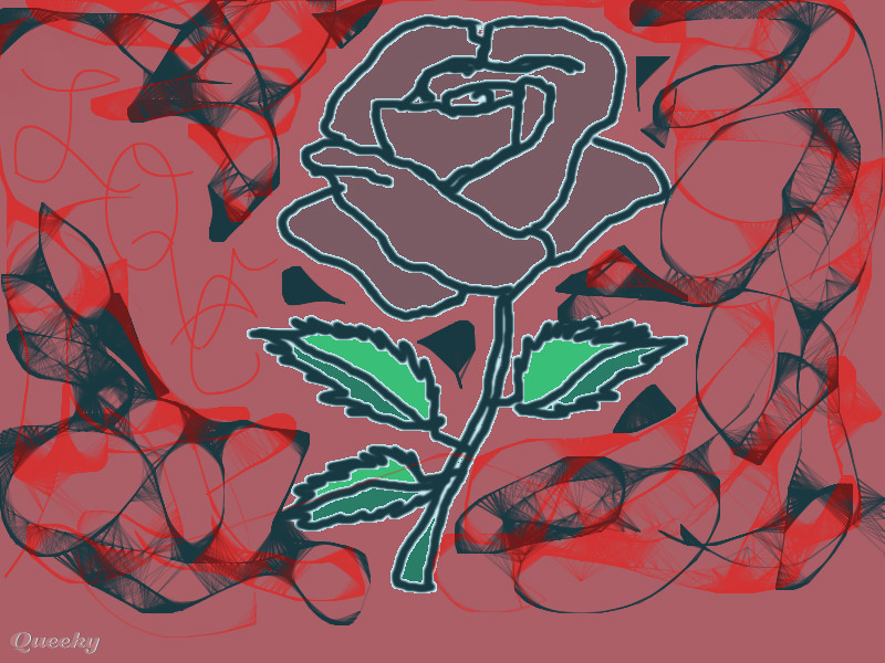 Aarrons emo rose an abstract speedpaint drawing by - Emo rose pictures ...