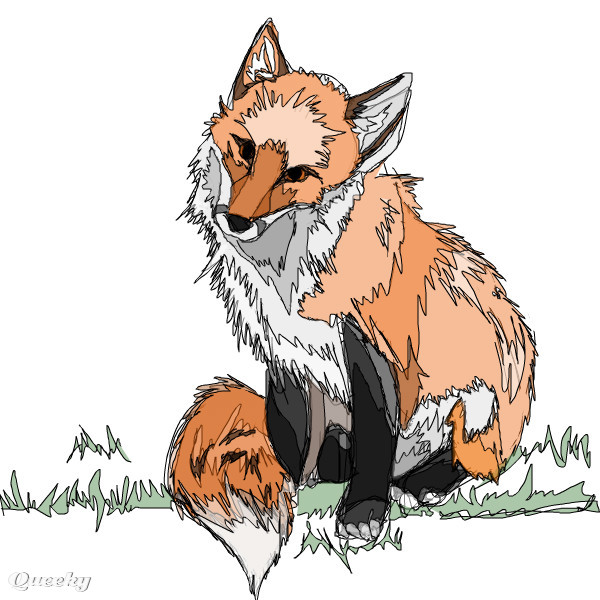 Fox an abstract speedpaint drawing by x3innocent for Cool fox drawings