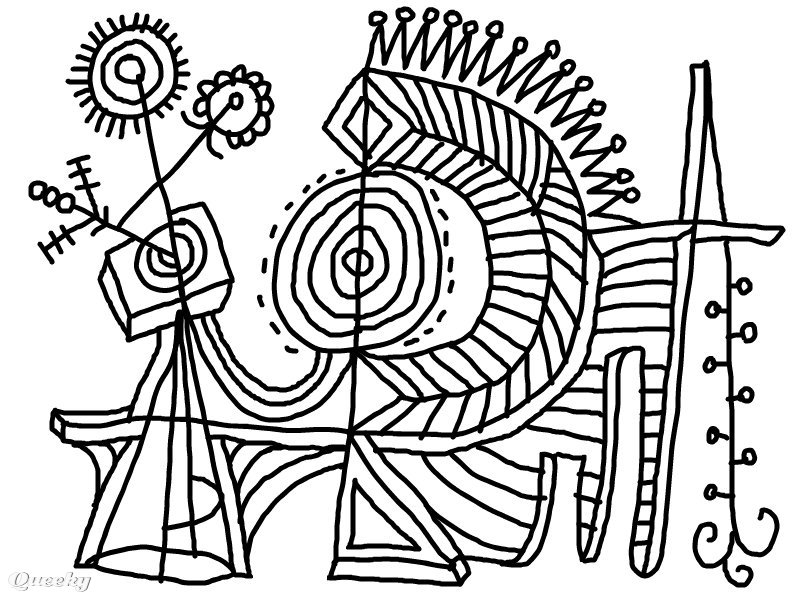 modern art coloring pages | Abstract Coloring Page ← an abstract Speedpaint drawing by ...