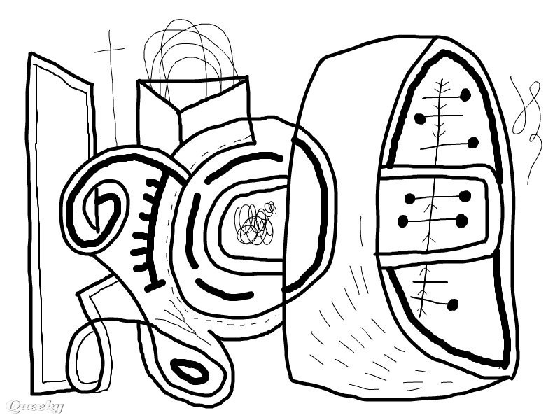 Abstract Coloring Page An Speedpaint Drawing By