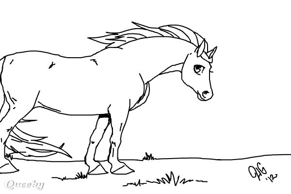Color Me Horse An Animals Speedpaint Drawing By