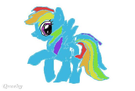 rainbow dash  u2190 an animals speedpaint drawing by queeky2345