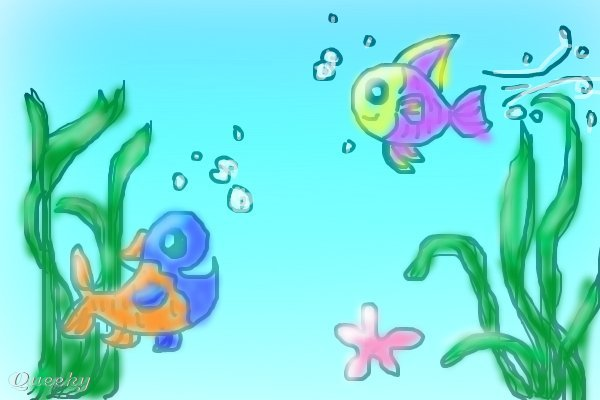 Fish tank ? an animals Speedpaint drawing by Kriver12 - Queeky ...