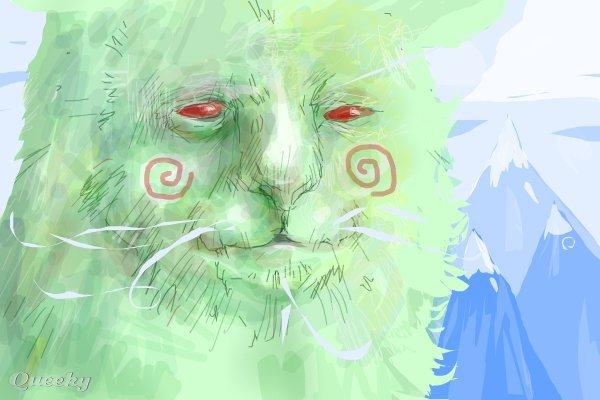 Weird Green Cat An Animals Speedpaint Drawing By
