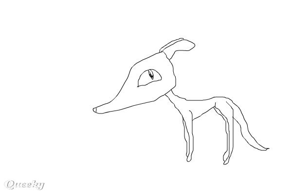 skinny dog  u2190 an animals speedpaint drawing by baddog
