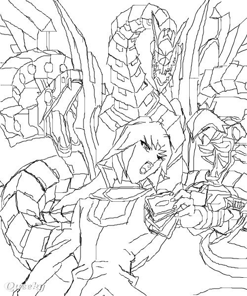 yugioh gx coloring pages - photo#7