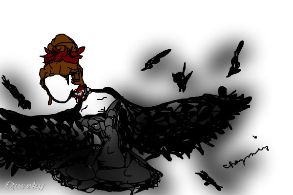 Black swan ← an anime drawing by Snowwhiteinyoureyes .