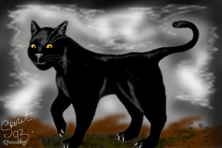 Yoruichi Cat Form ← an anime Speedpaint drawing by ...