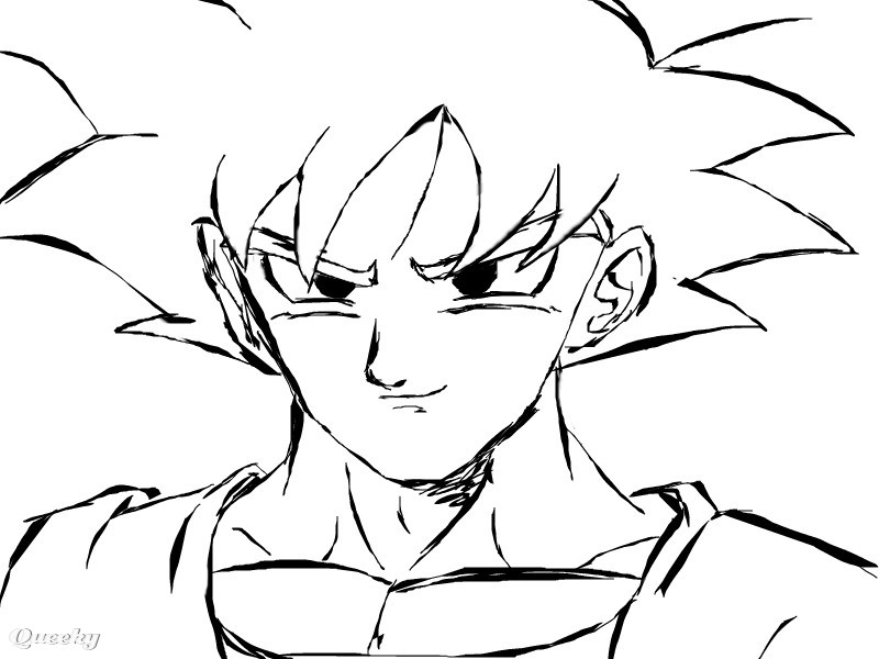 Easy Kid Vegeta Drawings