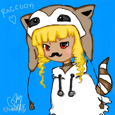 Raccoon Chibi With Mustache An Anime Speedpaint Drawing