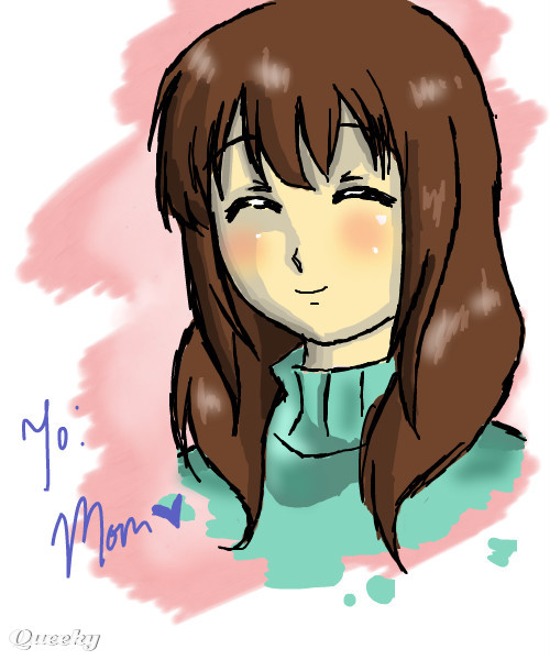 happy birthday mom an anime speedpaint drawing by