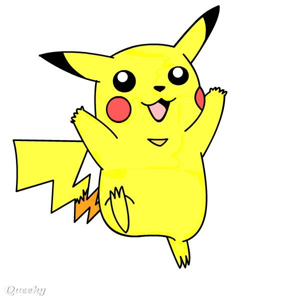 how to draw cute pikachu