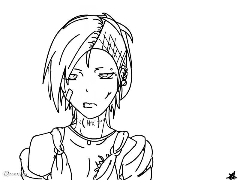 Uta Line Art Tokyo Ghoul An Anime Speedpaint Drawing By