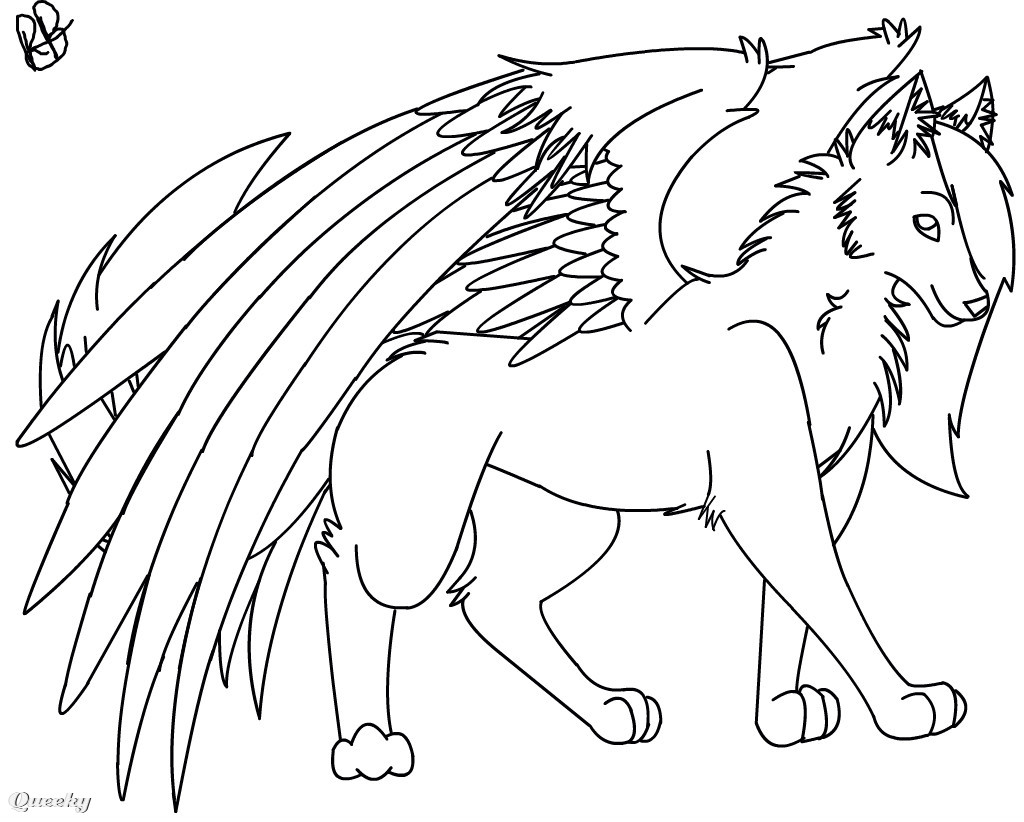 Wolf With Wings Drawing Www Pixshark Com Images