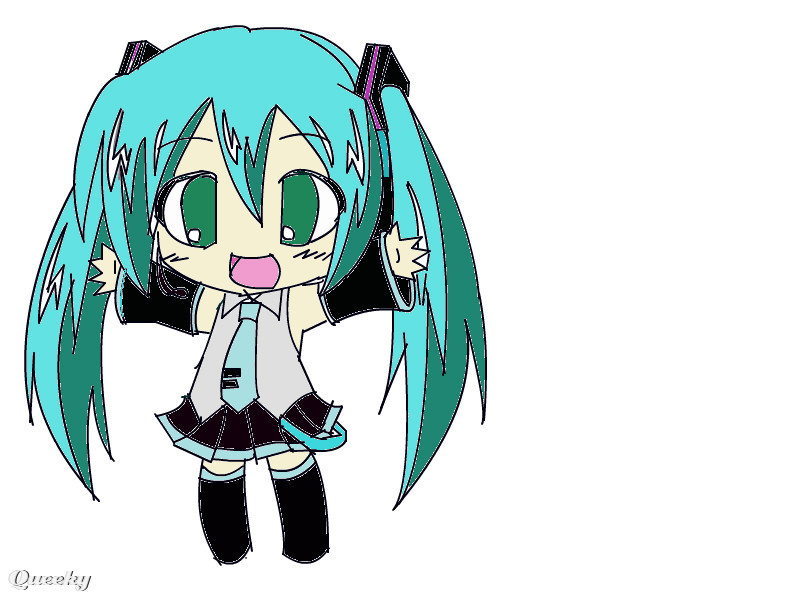 chibi hatsune miku � an anime speedpaint drawing by