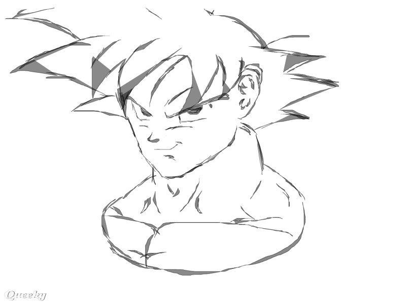goku an anime speedpaint drawing by fabrizio1989 queeky draw