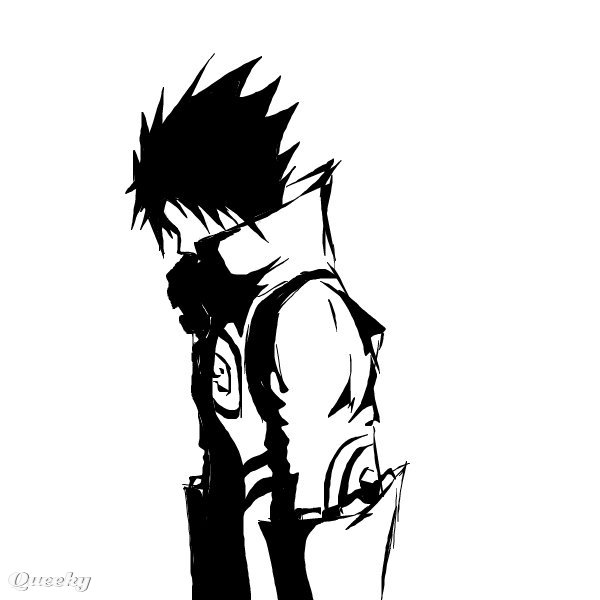 black drawing 2 an anime speedpaint drawing by neil queeky