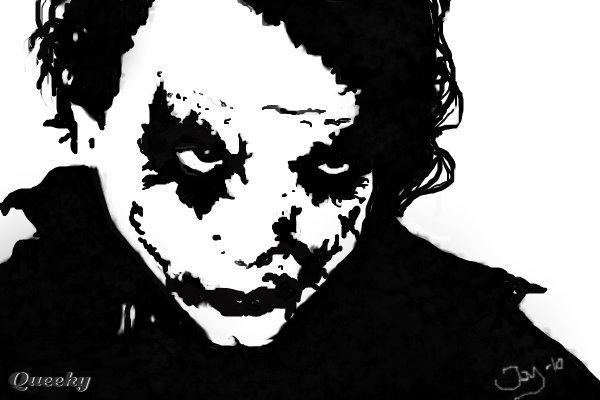 joker a black white speedpaint drawing by jayyaj queeky draw