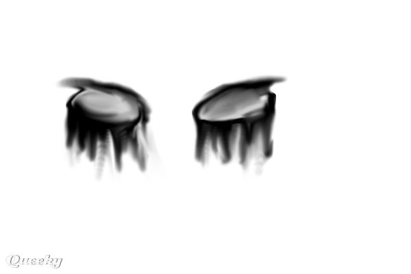 Crying eyes :( ← a black--white drawing by Cynthiadrake89 . Queeky - draw
