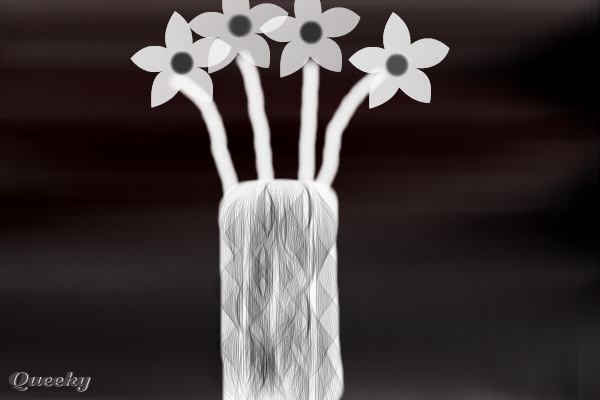 black and white drawings of flowers. Animated Drawing :Customize in