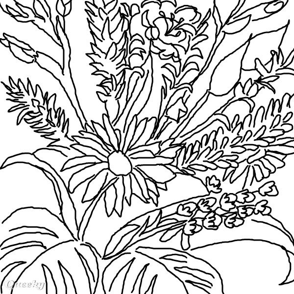Drawings Of Flowers In Black And White Flower black and white drawing