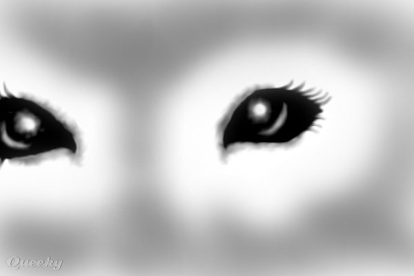 Evil eyes ← a black--white drawing by Dusthaven . Queeky - draw online!