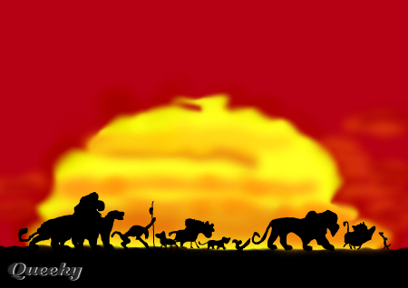 Lion King Silhouette A Cartoons Speedpaint Drawing By