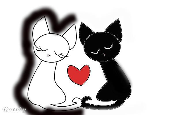 Cat Love Drawing Cat Love
