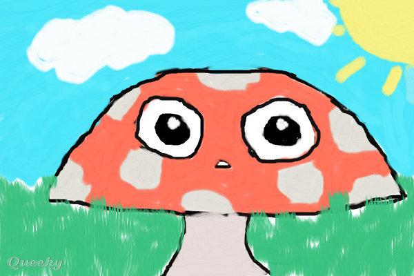 how to draw a cute mushroom