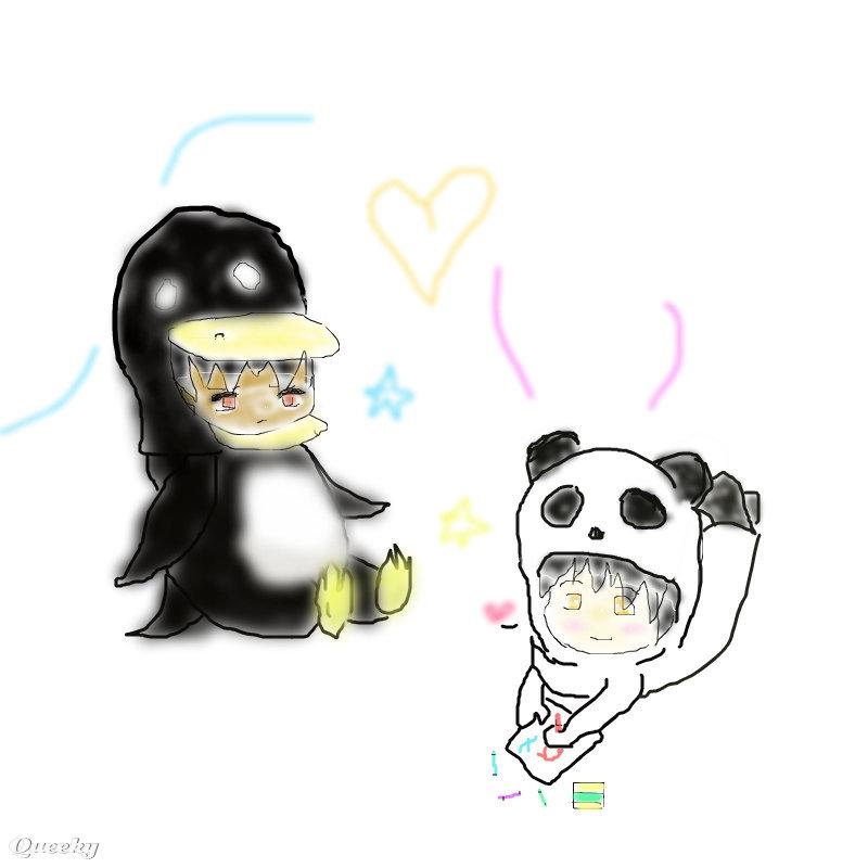 Cute Penguins Cartoon Cute Cartoon Panda And Penguin