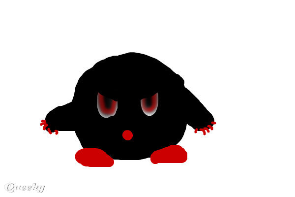evil kirby  u2190 a character speedpaint drawing by marqueese