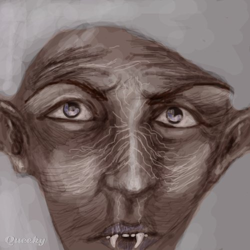 ugly human creature  u2190 a character speedpaint drawing by