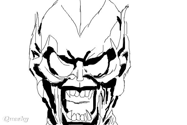 Norman osborn green goblin sketch a character speedpaint for Green goblin coloring pages